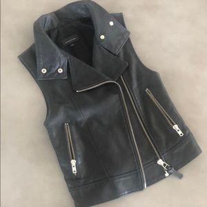 Mackage leather vest XXS